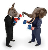 Democrat vs. Republican on white — Stock Photo