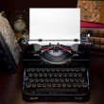 Retro Typewriter & Biooks — Stock Photo #13456023