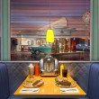 Retro Diner Interior - Stock Photo