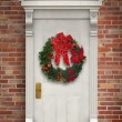 Stock Photo: Wreath on a Door