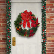 Wreath on a Door — Stock Photo