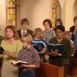 Singing Hymns in Church — Stock Photo