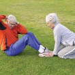 Senior Sit Ups — Stock Photo