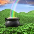 Stock Photo: End of Rainbow