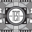 Retro TV Test Pattern - Stock Photo
