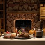 Thanksgving Cabin Dinner — Stock Photo #13454427
