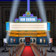 Movie Theatre & Ticket Box — Stock Photo #13454568