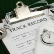 Track Record close-up — Stock Photo