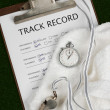 Track Record — Stock Photo
