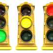 Downtown Stoplight 3 Pack - Stok fotoraf