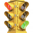 Vintage Traffic Signal — Stock Photo