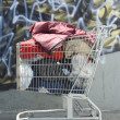 Homeless Shopping Cart - Stock Photo