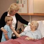 Family Visiting Hospice — Stock Photo