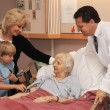 Visiting Nursing Home — Stock Photo