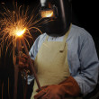 Industrial Welder - Stock Photo