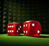 赌博骰子 — 图库照片