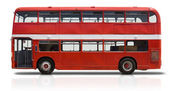 Red Double Decker Bus on White — Stock Photo