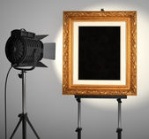 Spotlit Picture Frame — Stock Photo