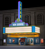 Movie Theatre & Ticket Box — Stock Photo