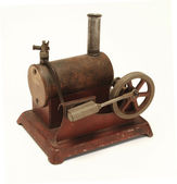 Toy steam engine — Stock Photo