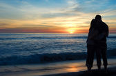 Couple Watching Sunset — Stock Photo