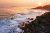 Zachód słońca w maine — Zdjęcie stockowe