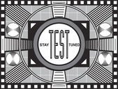 Retro tv test yayını — Stok fotoğraf