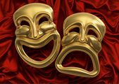 Comedy Tragedy Masks — Stock Photo
