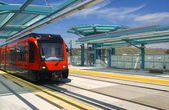 Light rail trolley — Stock Photo