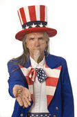 Uncle Sam Wants Your Money — Stock Photo