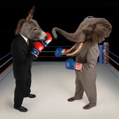 Republican vs. Democrat — Stock Photo