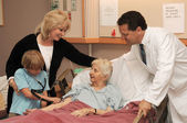 Nursing Home Visit with Doctor — Stock Photo