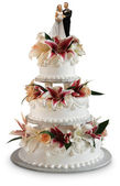 Deluxe wedding cake — Stock Photo