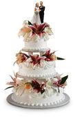 Deluxe wedding cake — Stock Photo