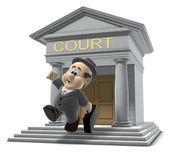 Wilfred leaving the court house — Stock Photo