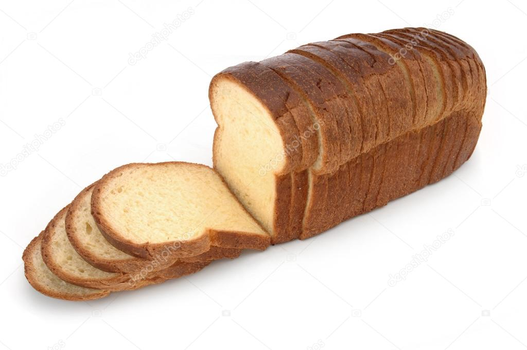 White Bread Loaf Loaf of Sliced White Bread on