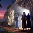 He is Risen - Stock Photo