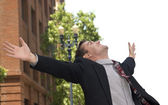 Elated Businessman — Stock Photo