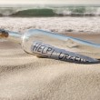 Help message in a bottle — Stock Photo #13470012