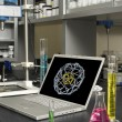 Laboratory Laptop - Stock Photo