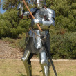 Knight with battle axe - Stock Photo