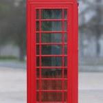 rode telefooncel in Londen — Stockfoto