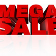 Mega Sale Headline - Stock Photo