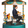 Corporate Merry-Go-Round - ストック写真