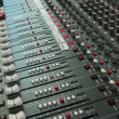 Audio mixing board console - Stock Photo