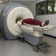 Patient about to enter a magnetic resonance imaging machine — Stock Photo #13471576