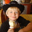 boy with icecream — Stock Photo
