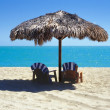 Palapa on the beach - Stock Photo