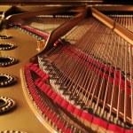 Concert grand piano interior — Stock Photo #13471994