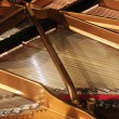 Interior of grand piano - Stockfoto